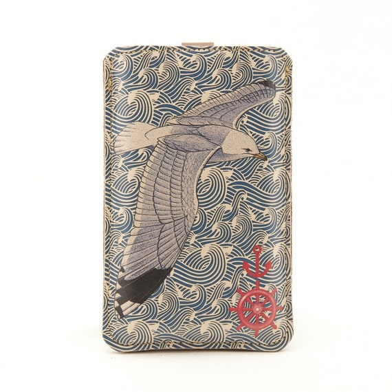 Leather iPhone/ iTouch/HTC(Desire/Mozart) case - Nautical