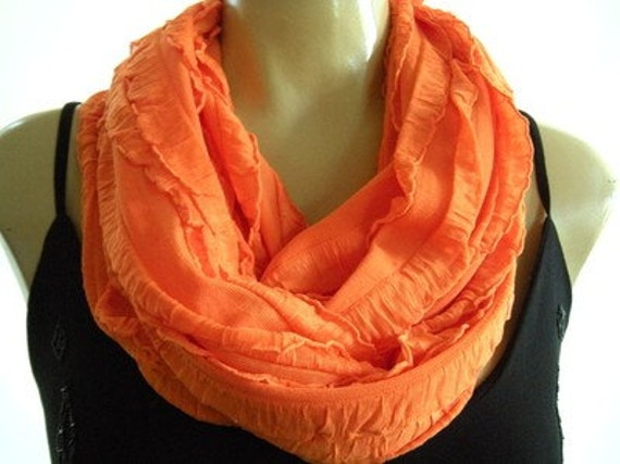 Juicy Orange...Flamenco..Necklace Scarf...Relaxed Version...Le dernier cri...