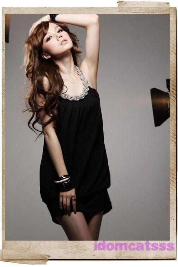 سیاه و سفید بدون آستین NWT طراحی لباس 47