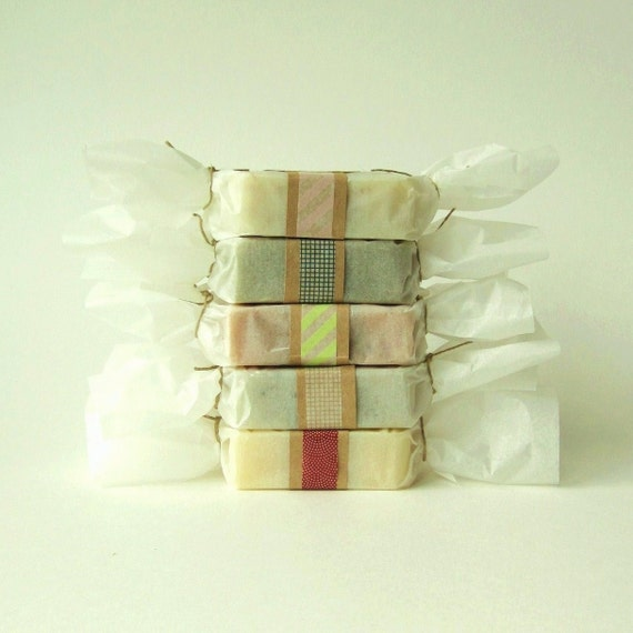 Choose Any 5 Bars of Soap // Vegan-Organic-Cold Process