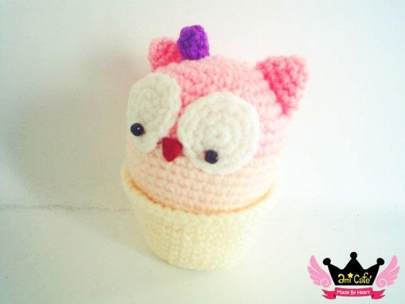 PDF Pattern - Blueberry Owl Cupcake Pattern