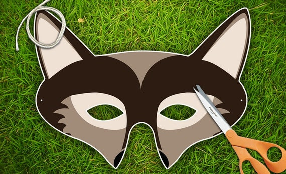 Wolf Party Mask  Printable PDF by theRasilisk on Etsy from etsy.com