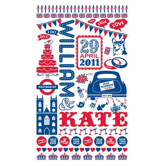 William and Kate Royal Wedding print