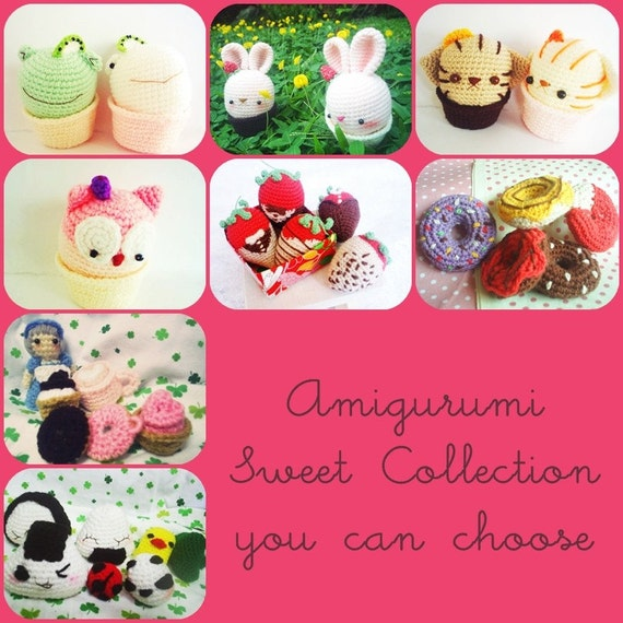 Amigurumi Sweet Collection - 3 Pattern Deal for 8 dollars