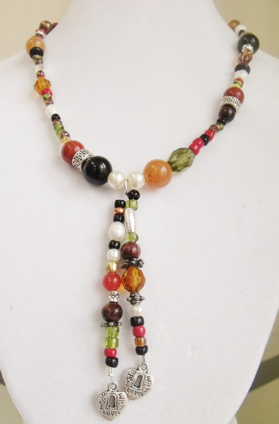 Eclectic Multi-Beaded Moracan-Style Necklace