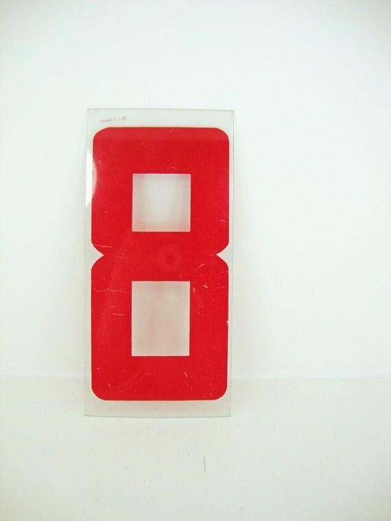 Plastic Number 8 Sign