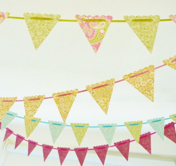 mini paper spring/Easter bunting