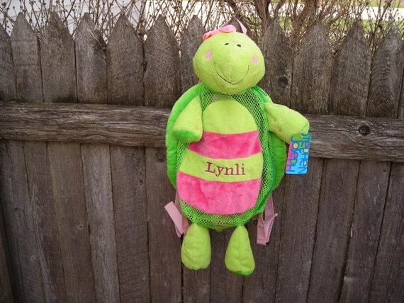 Personalized Stephen Joseph Silly Sac Turtle by Never Felt Better