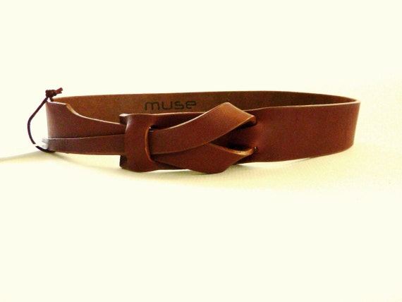 Camel Leather MUSE Belt 1 1/2 inch Free Shipping by MuseBelts