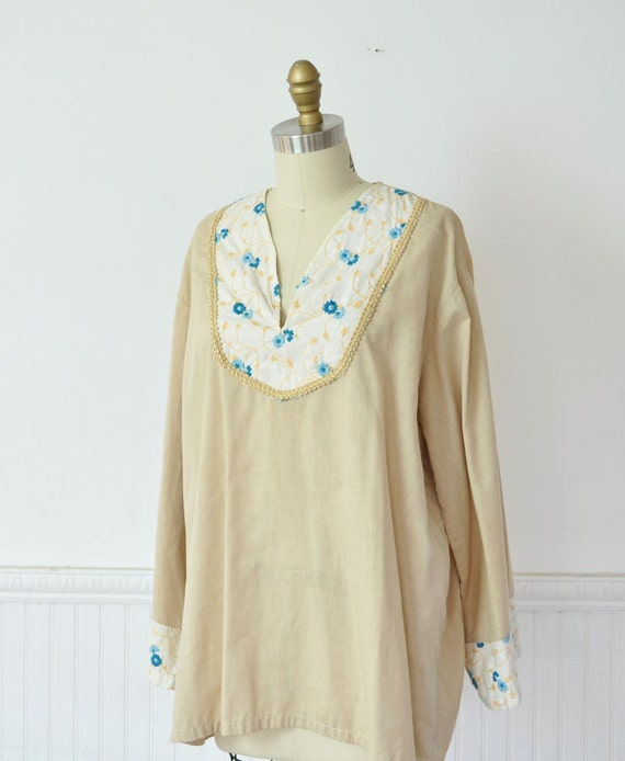 Vintage 70s Boho Peasant Blouse by MariesVintage on Etsy from etsy.com