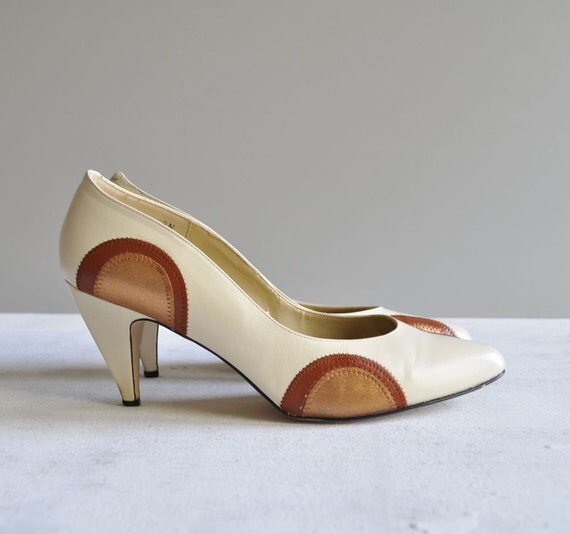 Vintage 80s COPPER SMELT Heels by MariesVintage on Etsy from etsy.com