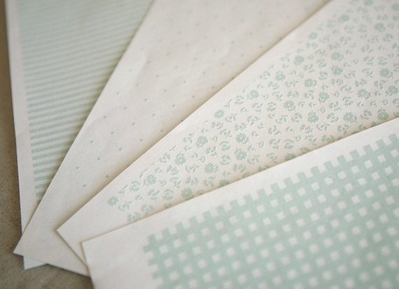 Mint fabric patch sellotape sticker