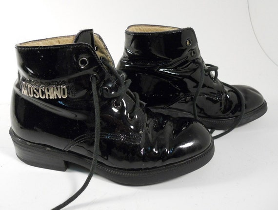 Adorable Children's Moschino Patent Leather Boots
