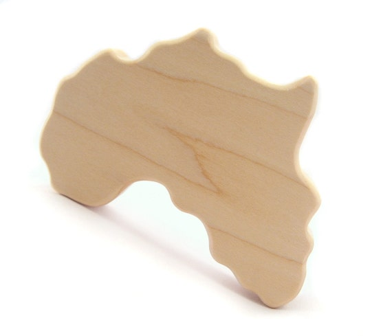 organic Africa TEETHING TOY - natural wooden grasping teether eco friendly babies infants kids