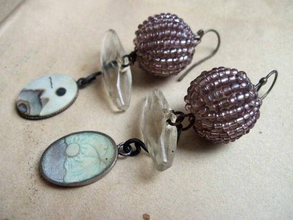 Landschap. Earrings