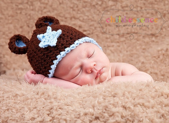 Little Boy Blue Teddy Bear Hat