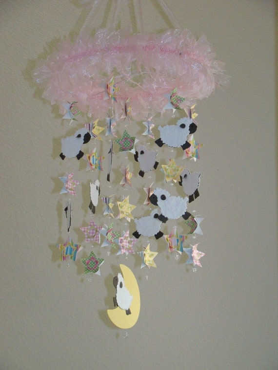Baby Lamb Stars and Moon Baby Mobile