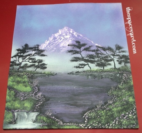 "A ""Purple Mountain's Majesty"" Signed Original Painting"