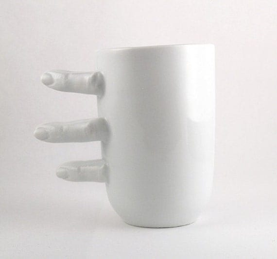 Porcelain Cup with Fingers