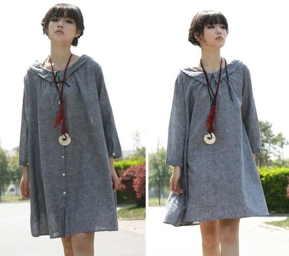 دوست داشتنی های Collared لباس کوتاه با Pleates / در همه اندازه ها