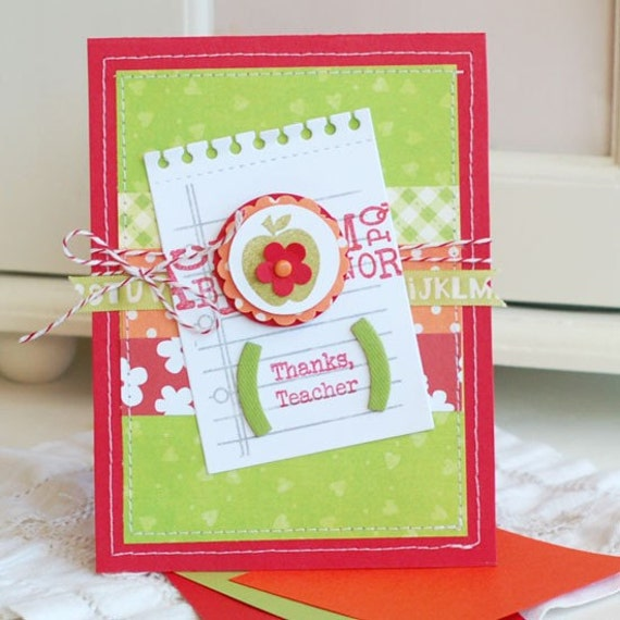 handmade greeting cards for teachers. Handmade Greeting Card by