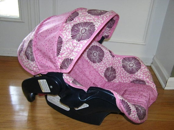 Custom Infant Car Seat Cover Pink Moda REPLACEMENT Cover Exact Fit