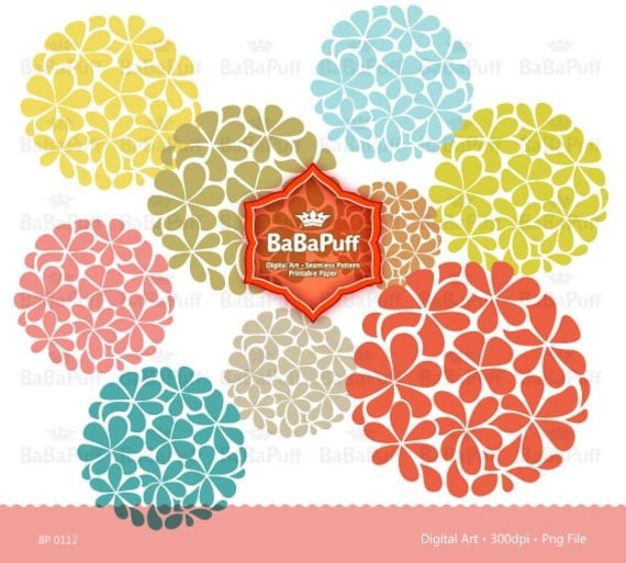 Flower Designs clip art for scrapbooking wedding invitation card