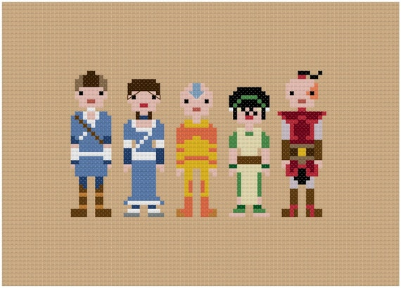 Pixel People - Avatar the Last Airbender - PDF Cross Stitch Pattern