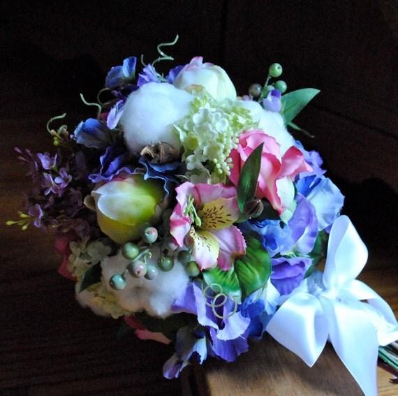 Хлопок Болл Свадебные букеты - Красивые - натурального хлопка - Смешанные Цветочные