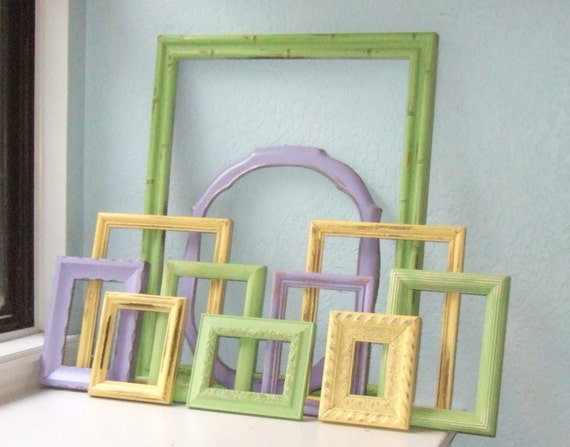 Shades of Spring Upcycled Frame Collection