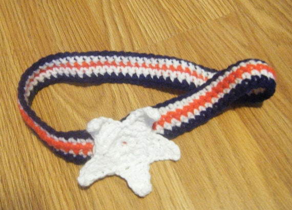 Dog Collar Crochet Patriotic - Custom