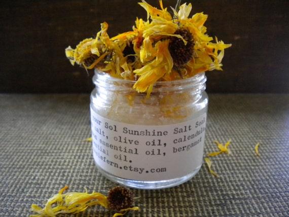 Herbal Calendula Lemon Bergamot Bath Salt Sel your Sol 2oz