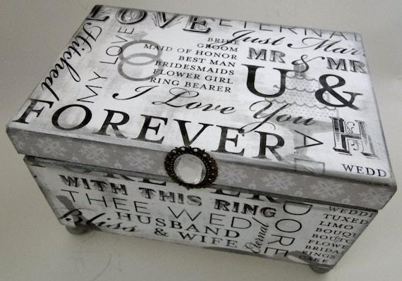 Wedding Memories Keepsake Trinket Box or Wedding Guest Book Alternative