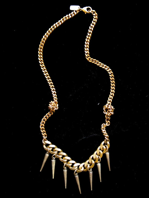 Knotted Spike Necklace
