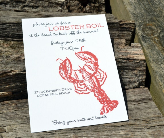 Lobster Boil Party Invitation-featured on InvitationBuzz.com