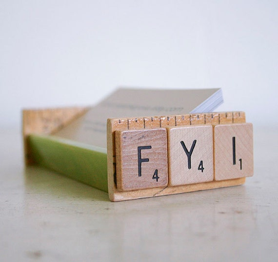FYI Repurposed Bakelite Business Card Holder