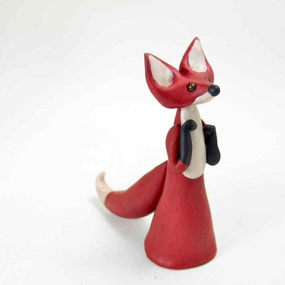 Kitsune - Red Fox Spirit Figurine by Bonjour Poupette