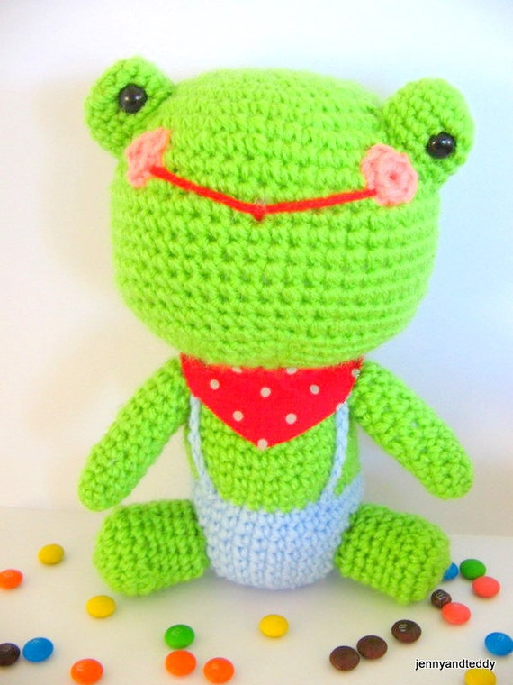 Free amigurumi crochet pattern Mr.Frog