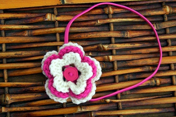 Triple Layer Flower Headband
