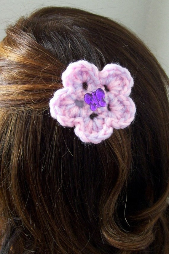 Butterfly Flower Barrette