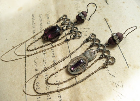 Spirare. Violet Earrings.