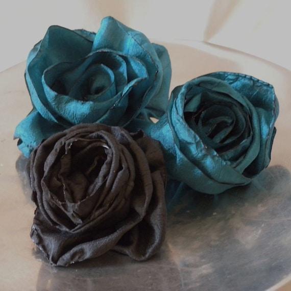 Как сделать текстильную розу мк