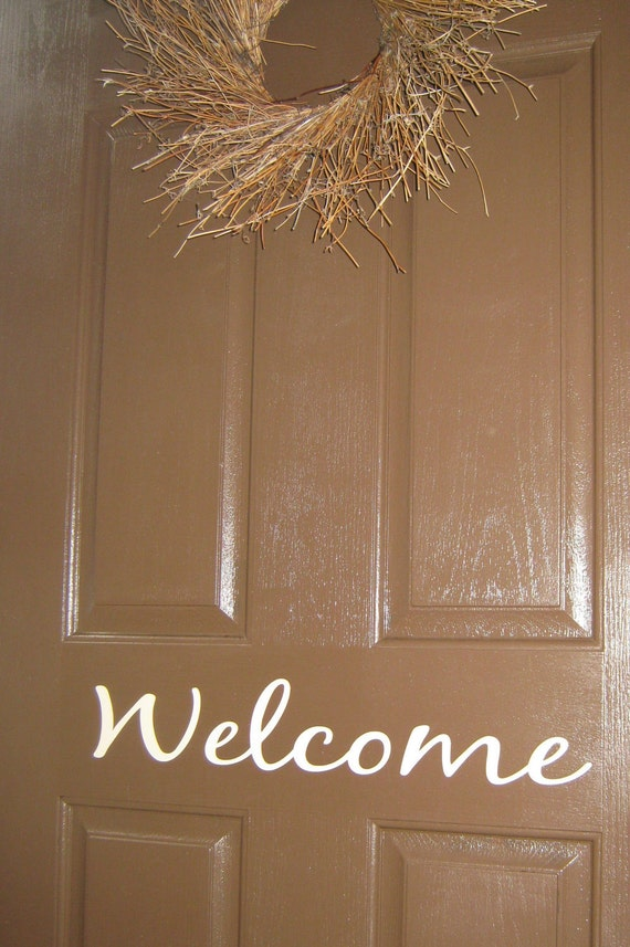 Welcome- door vinyl