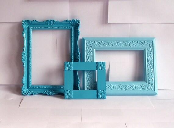 Seaway Frame Trio, Turquoise & Aqua Blue
