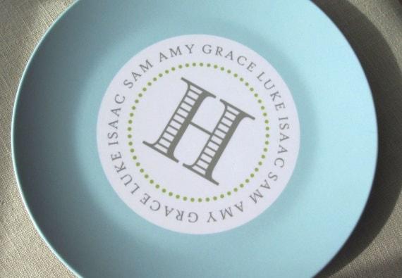 Hula Hoop Melamine Plate