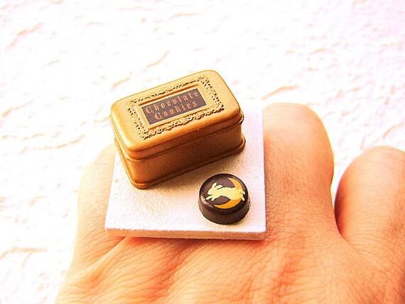 Kawaii Симпатичные японские Печенье Шоколад кольцо