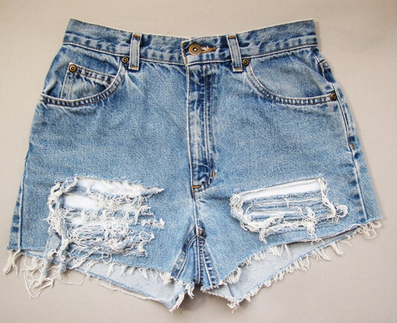 Vintage UPCYCLED SHREDDED Liz Claiborne Cut Off Shorts