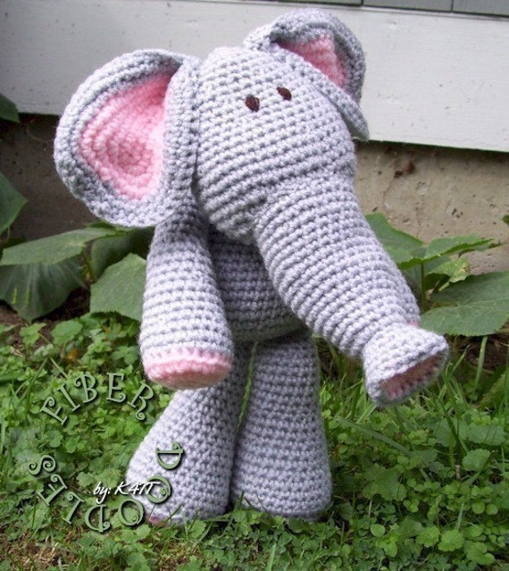 CROCHET PATTERN - KISS Series - Elephant