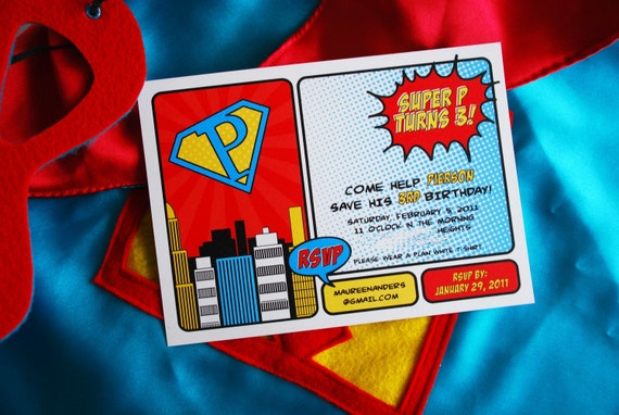 Vintage SUPER HEROS Birthday Party - Printable Hero Sandwich Labels