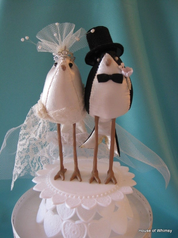 Wedding Bird Cake Topper